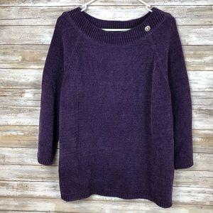 Karen Scott Sweater Size L 3/4 Sleeve